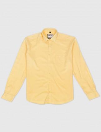 Killer solid yellow slim fit mens shirt