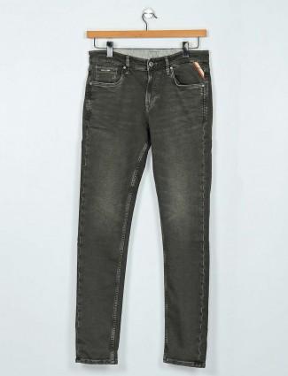 Killer washed olive slim fit jeans