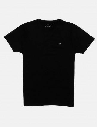 Kuch Kuch casual wear black solid t-shirt