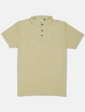 Kuch Kuch light green solid mens t-shirt