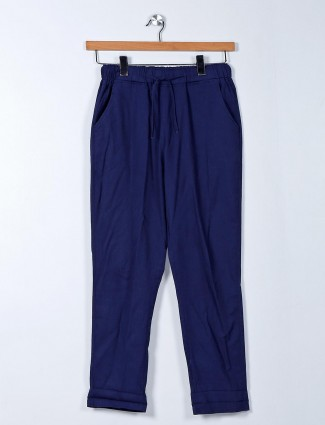 Latest blue palazzo pant for women