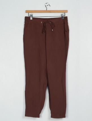 Latest brown cotton pyjama for causal wear