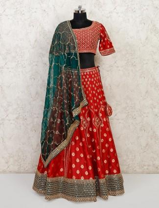 Latest maroon silk wedding wear lehenga choli