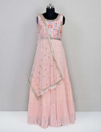 Latest peach wedding wear salwar kameez