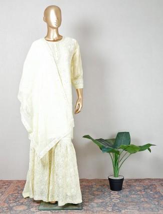 Latest yellow georgette party wear salwar kameez