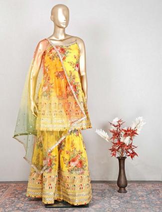 Latest yellow salwar kameez for women