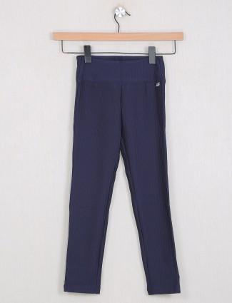 Leo N Babes dark blue color cotton stripe jeggings