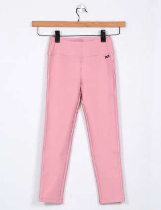 Leo N Babes girls jeggings in pink