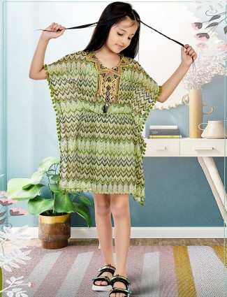 Leo N Babes pastel green pretty frock in cotton