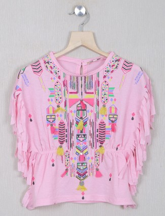 Leo n Babes pink printed top in cotton