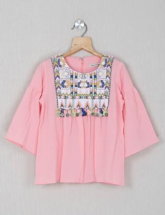 Leo N Babes solid pink mega sleeves top
