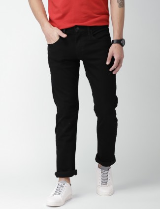 Levis jet black solid jeans