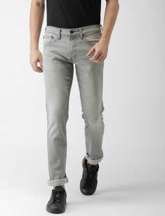 Levis light grey casual jeans
