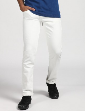 Levis solid white classic 511 slim fit jeans