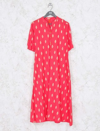 Magenta color lovely cotton kurti