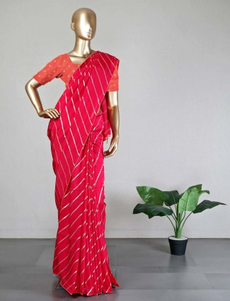 Magenta dola silk saree for women