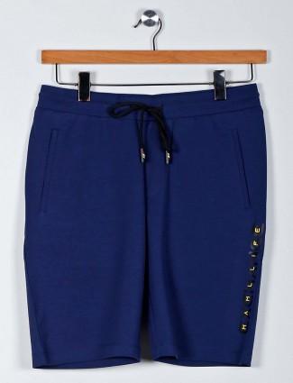 Maml dark blue cotton night shorts