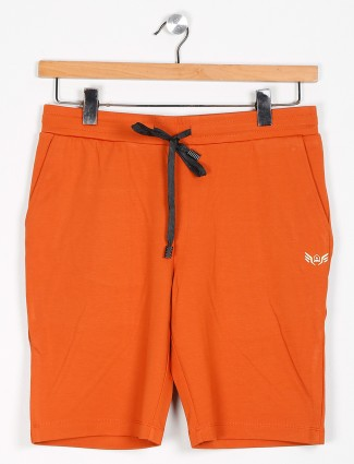 Maml orange cotton night casual shorts