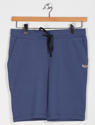 Maml slim fit blue casual shorts