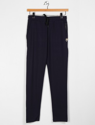 Maml solid navy color track pant