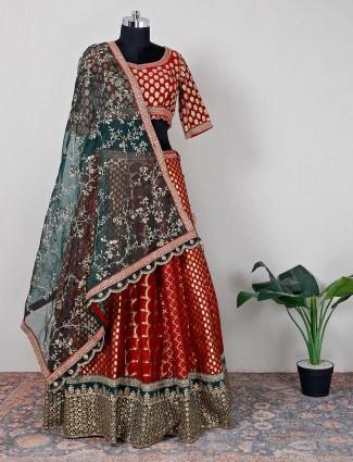 Maroon designer silk lehenga choli for women