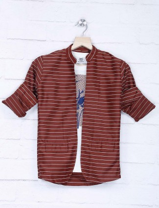 Maroon stripe party occasion blazer