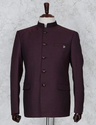 Maroon terry rayon fabric texture jodhpuri
