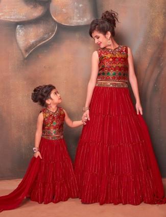 Maroon wedding days designer lehenga choli