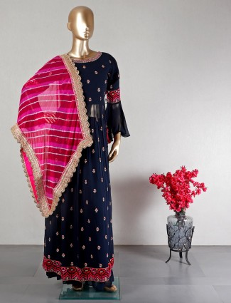 Nacy colour sharara suit for wedding
