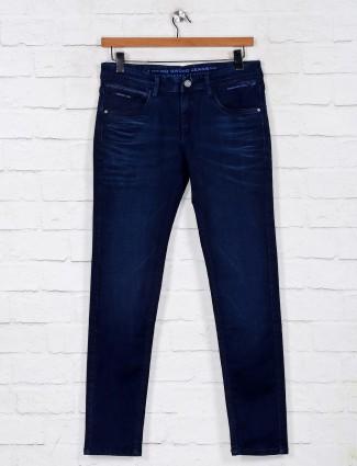 Navy washed slim denim jeans