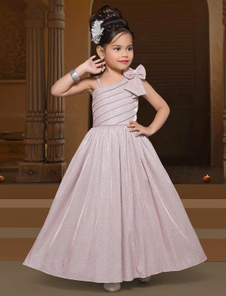 New-arrived pink tint designer gown