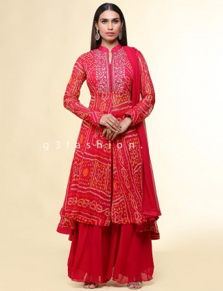 New Red wedding wear palazzo suit