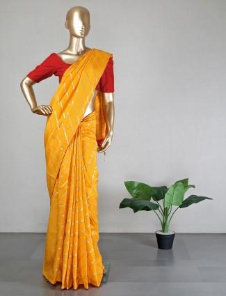 New yellow silk saree for wedding
