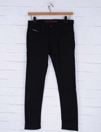 Nostrum black denim solid jeans