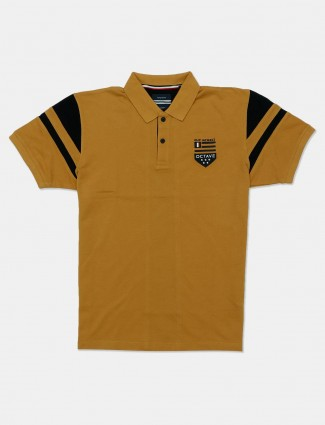 Octave mustard yellow solid t-shirt