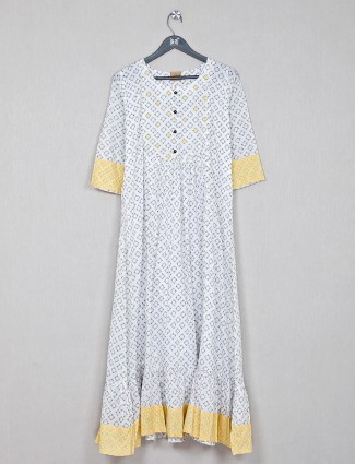 Off white cotton kurti for causal wear