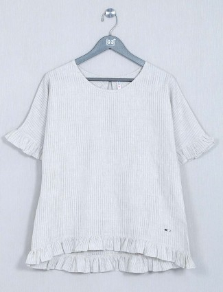 Off white poly cotton casual wear top