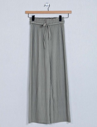 Olive palazzo for women in poly cotton