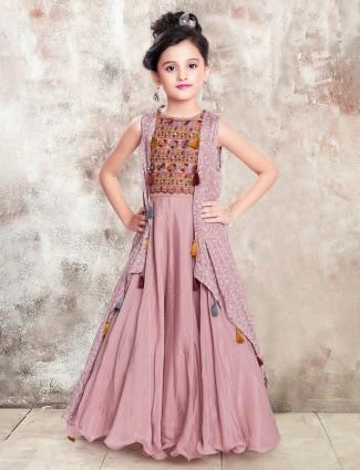 Onion pink silk wedding occasion gown