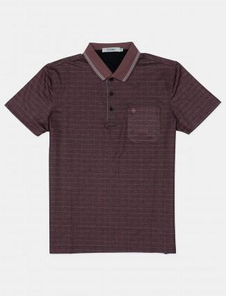 Pcubez brown checks and polo t-shirt