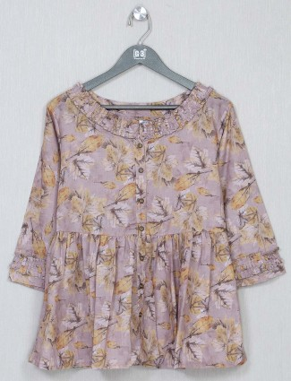 Onion pink printed top for women