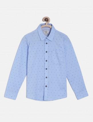 Pepe Jeans light blue polka dot printed shirt