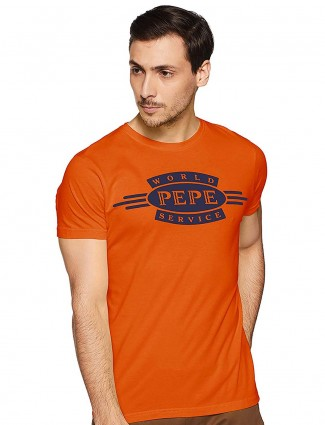 Pepe Jeans orange printed t-shirt