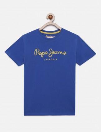 Pepe Jeans printed royal blue hue t-shirt