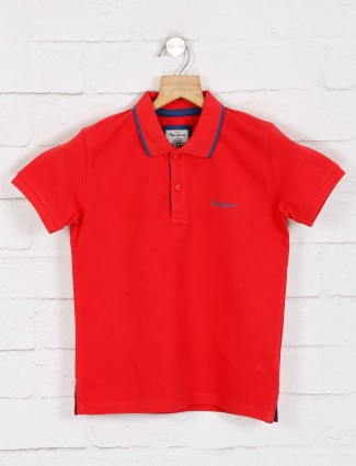 Pepe jeans solid red  casual t-shiet