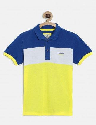 Pepe Jeans solid yellow and blue t-shirt