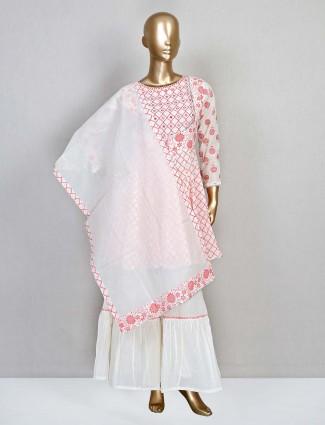 Pink cotton wedding wear salwar kameez