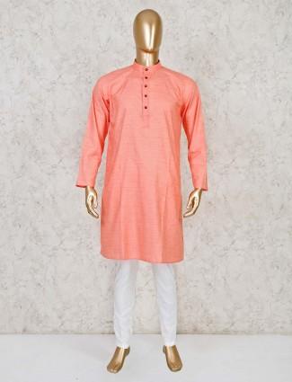 Pink festive wear cotton  kurta suit