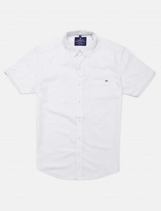 Pioneer white casual shirt