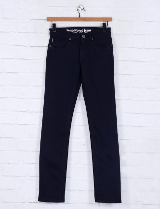 Poison slim fit solid navy jeans